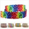 "By the yard-7/8"" Rainbow dot gradient Printed Grosgrain Ribbon Craft hair bow"