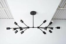 Mid Century Chandelier Industrial Stunning Modern Style Light Sputnik Fixture