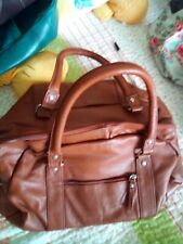 "Brown leather Tommy & Kate handbag hardly used 17""x6"""