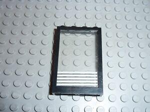 LEGO Black window Réf 2493a  + glass Réf 2494 & Sticker Set 6398/6386/6540