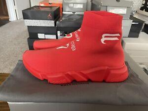 Balenciaga Speed Trainer Sneaker 'Intense Red' Sz EU 43 / US 10