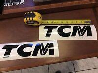 TCM vinyl decal , TCM forklift decal -- Black Vinyl
