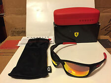 NEW OAKLEY - FERRARI canteen - Matte Black / Rudy Iridium Polarized, OO9225-06