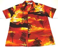 Vtg 60/70s Rai Nani TROPICAL Hawaii Kon-Tiki SUNSET Palm trees Hawaiian Shirt XL