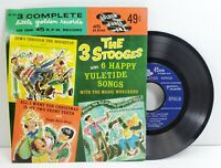 The 3 Stooges Sing 6 Happy Yuletide Songs Music Wreckers 45rpm Golden Record 561