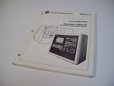 Allen-Bradley 8200-5.1.1 Operators Manual Series 8200 Cnc - Used - Free Shipping