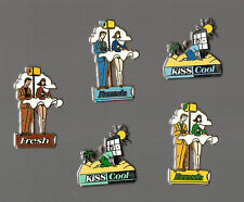 Lot de 5 pin's Fresh Kiss Cool (signés Arthus Bertrand)
