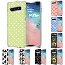 Thin Gel Design Phone Case Cover for Samsung Galaxy S10 Plus,Dot Stylish Print
