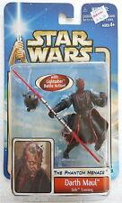 Star Wars The Phantom Menace Darth Maul Sith Training (Hasbro, 2002) New on Card