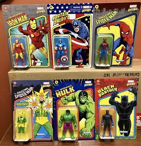 "Marvel Legends Kenner Retro 3.75"" Set of 6 Unpunched!"