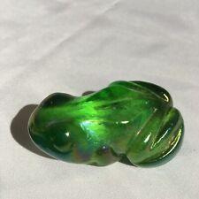 Frog decor paperweight. Iridescent Glass 2 1/2� X 1 5/8�