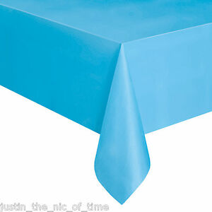 """Plastic TABLECOVERS Table Cloth Cover Party Catering Events Tableware 54""""X108"""""""