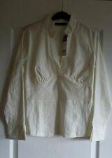Camisa Tamaño 12 Petite próxima Crema