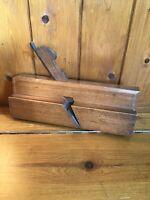 Antique Vintage Carpenters Wooden Moulding Plane - Stamped E Garrett - No 16