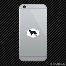Curly Coated Retriever Euro Oval Cell Phone Sticker Mobile Die Cut