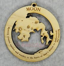 Moon-Space Astronomy Solar System Earth Science Timber Green wooden ornament
