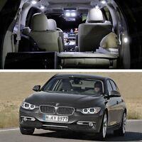 White 4Pcs LED SMD Light Interior Bulbs Kit New for BMW 3 Series 2012-2016 F30