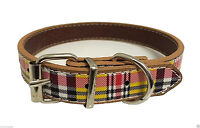 New Fashion Cute Check Pattern Leather Collar For Puppy Cat Pet Dog (SMALL DOG)