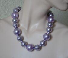 Halskette, Perlenkette, Perlen, geknotet, große Kugeln NEU