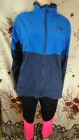 The North Face man flashdry blue long sleeve zip fleece jumper size Large L di