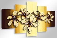 Quadro Moderno 5 pz. CANDID FLOWERS cm 150x90 arredamento stampa su tela fiori