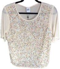 Waist Length Polyester Collarless Tops & Shirts for Women