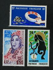 CKStamps: France Stamps Collection French Polynesia Scott#277 284 285 Mint H OG