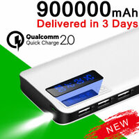 Power Bank 900000mAh LED Fast Charge Portable External Backup Battery Charger