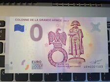 BILLET EURO SOUVENIR 2018-1 COLONNE DE LA GRANDE ARMÉE WIMILLE