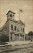 Hackettstown NJ Town Hall - Fire Station? Bay Doors c1910 Postcard