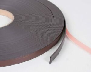 Magnetic Tape, Self Adhesive Rolls Sticky Back Strips, 10mm or 20mm Wide