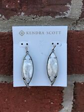 💖🌟NWT Kendra Scott Maxwell Earrings in Crackled Ivory MOP/ASV🌟💖