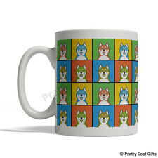 Canadian Eskimo Dog Mug - Cartoon Pop-Art Coffee Tea Cup 11oz Ceramic