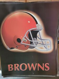 """Cleveland Browns 16""""X20"""" logo poster picture NFL Great for autographs or frame"""