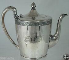 VINTAGE SILVER PLATE TEA/COFFE POT USA MADE FLOWER RIMS,MONO