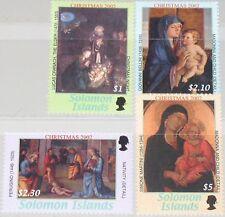 SOLOMON SALOMON ISL. 2002 1105-08 953-56 Weihnachten Christmas Religion Art MNH