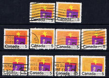 Canada #521(1) 1970 5 cent Christmas - CHILDREN'S DRAWINGS - NATIVITY 10 USED