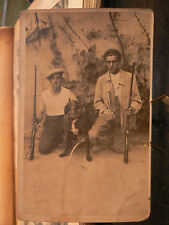 cpa photo chasseurs chasse chien