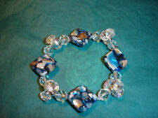 "7"" Mother of pearl and crystal Bracelet"