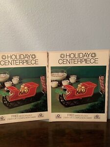 Set of 2 gift with purchase Camay sled pop-up paper centerpieces