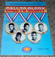 Call to Glory Boxing Program Whitaker Holyfield Taylor Main Events 1984 Olympics