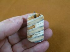 """v-838) 1-1/2"""" Rare EXTINCT Fossil Siberian Woolly Mammoth tooth dog tag pendant"""
