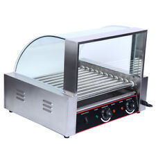 Ridgeyard Commercial Hot Dog Grill Cooker Warmer 8 Rows 24 Hotdogs Grill Machine