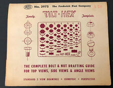 Timely Frederick Post Tilt Hex Drafting Template Nuts Bolts in envelope