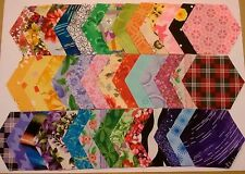 """40 Perfect Patch Hexies Fabric Hexagons - 3"""" hexagons - Set 01"""
