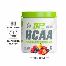 Mp Essentials Bcaa Powder 6 Grams of Bcaa Amino Acids Fruit Punch 30 Servings