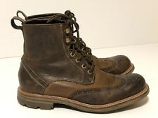 John Varvatos Wingtip 2-tone Brown Men's Boots Size 8.5 NICE!