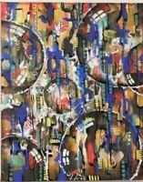 "Brutalist Art Original Painting 16""x 20"" Acrylic on Canvas 2018 by Artist"