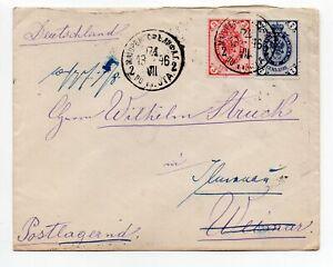 1896 Russland Beleg Brief 3+7 Kopeken Stempel nach IllemnauThür.