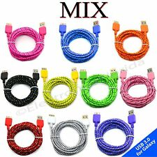Braided USB 3.0 Data Sync Charger Cable For SAMSUNG GALAXY S5 NOTE 3 -b224 lot